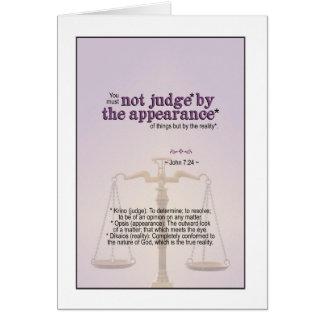 Judge by God's reality - John 7:24 Card
