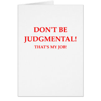 judge card