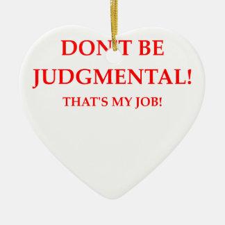 judge ceramic ornament