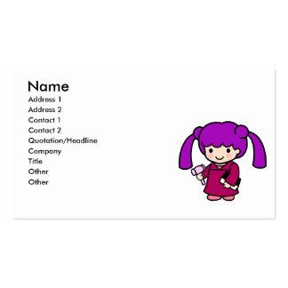 Judge Girl Business Card Template