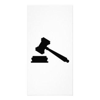 Judge hammer photo card