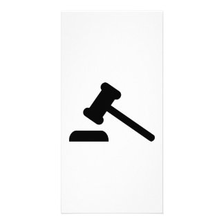 Judge hammer photo cards
