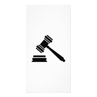 Judge hammer custom photo card