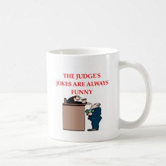 judge jokes classic white coffee mug
