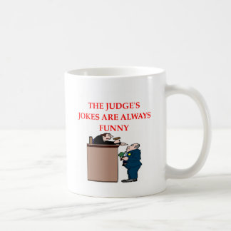 judge jokes coffee mug