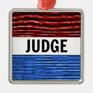 Judge Patriotic Christmas Ornament