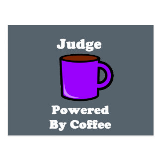 """Judge"" Powered by Coffee Postcard"