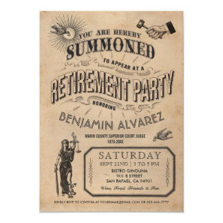 Judge Retirement Invitation - Party Vintage Retro