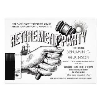 Judge Retirement Invitation - Party Vintage Retro