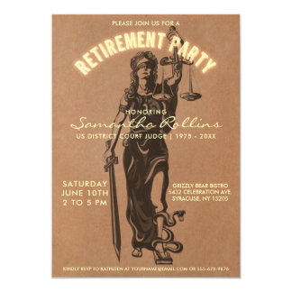 Judge Retirement Party Invitation | Lady Justice