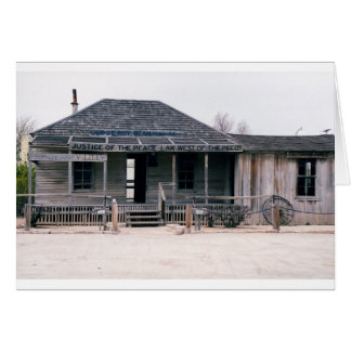 Judge Roy Bean Courthouse and Jail Replica Card