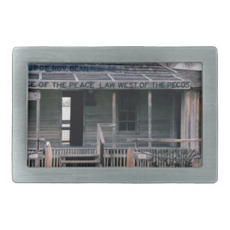 Judge Roy Bean Courthouse and Jail Replica Rectangular Belt Buckle