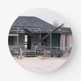 Judge Roy Bean Courthouse and Jail Replica Round Clock