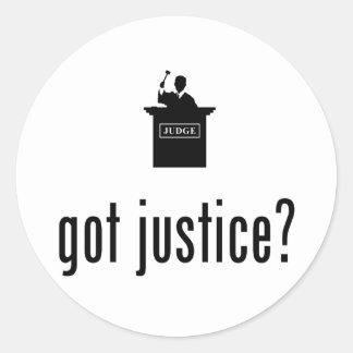 Judge Round Stickers