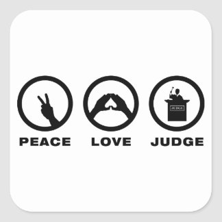 Judge Square Stickers