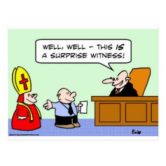 judge surprise witness postcard