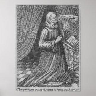 Judge Thomas Littleton, 1628 Poster