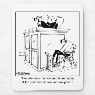 Judge Uses a Hammer, Not a Gavel Mouse Pad