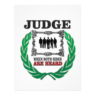 judge when you hear both sides letterhead