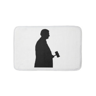 Judge With Gavel Silhouette Bath Mat