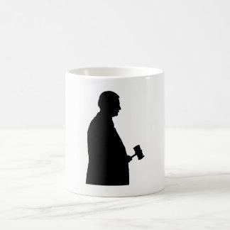 Judge With Gavel Silhouette Coffee Mug