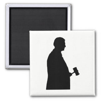 Judge With Gavel Silhouette Magnet
