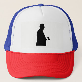 Judge With Gavel Silhouette Trucker Hat