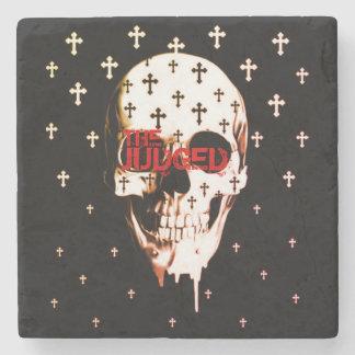 Judged Skull & Crosses  Marble Stone Coaster