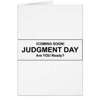 Judgement Day Greeting Card