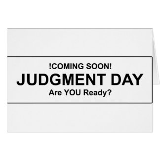 Judgement Day Cards