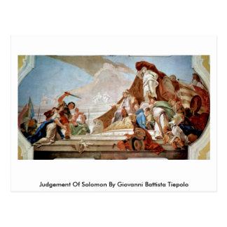 Judgement Of Solomon By Giovanni Battista Tiepolo Postcard