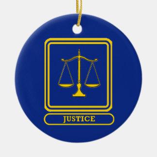 Judges Justice Shield Ceramic Ornament