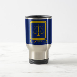 Judges Justice Shield Travel Mug
