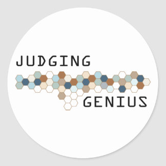 Judging Genius Stickers