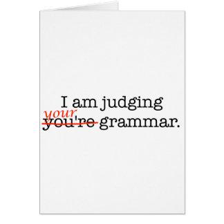 Judging Your Grammar Card