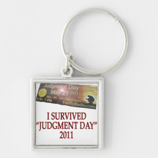 JUDGMENT copy Silver-Colored Square Keychain