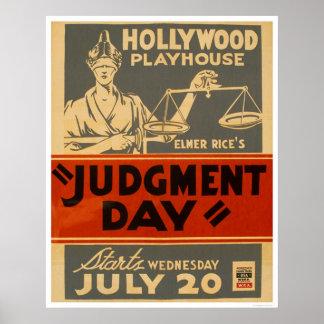 Judgment Day Mayan 1938 WPA Poster