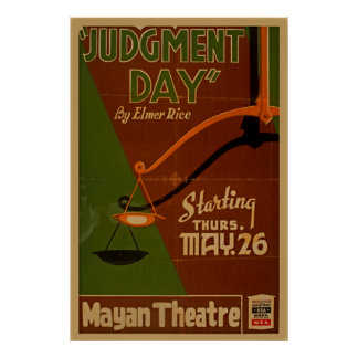 Judgment Day WPA Vintage Theatre Poster