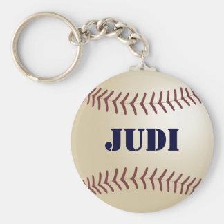 Judi Baseball Keychain by 369MyName