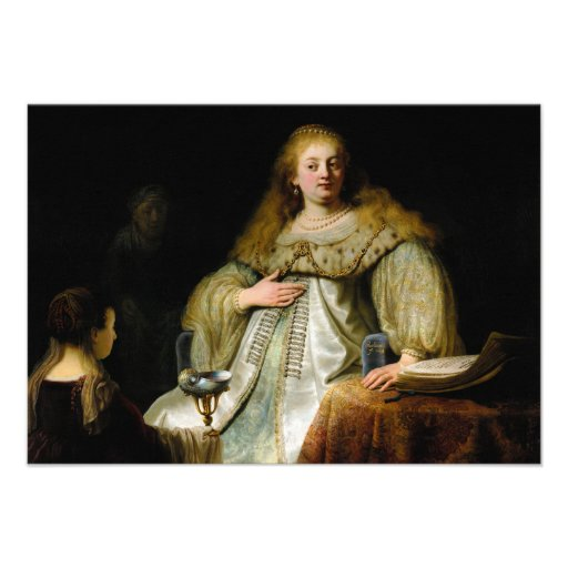 Judith at the banquet of Holofernes by Rembrandt Custom Invitation