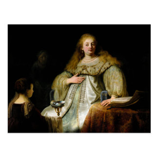 Judith at the banquet of Holofernes by Rembrandt Postcard