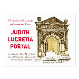 Judith Lucretia portal Postcard