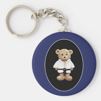 Judo Black Belt Keychain