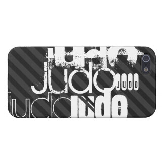 Judo; Black & Dark Gray Stripes Cover For iPhone 5/5S
