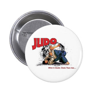 Judo Choke Out 2 Inch Round Button