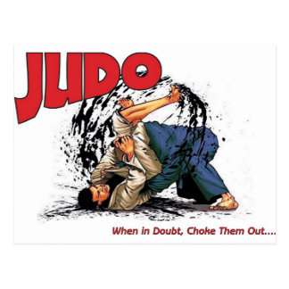 Judo Choke Out Postcard