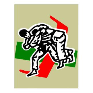 judo ju jitsu postcard