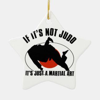 judo martial design ceramic star ornament