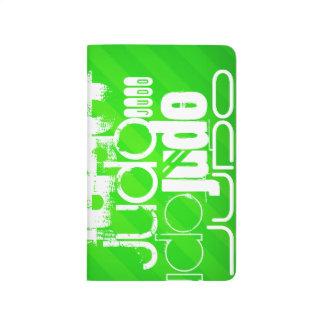 Judo; Neon Green Stripes Journal