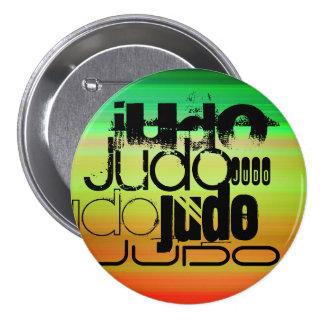 Judo; Vibrant Green, Orange, & Yellow 3 Inch Round Button